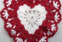 crochet dishcloths, potholders