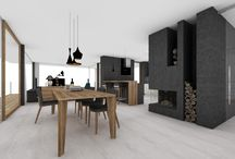Barák - jídelna + obývak