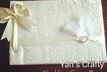 Handmade Wedding Guest Book by Yan's Crafty / All about handmade of wedding guest books