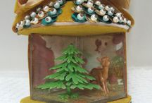 Dioramas / A little kooky, often kitschy, I totally dig dioramas.  I've loved them ever since I was just a kid, peering inside little Christmas dioramas on a tree.  They are like magic capsules!