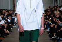 Notes from the Runway: Paris Men's Collection Kris Van Assche S/S14 /  You might wonder how you turn sportswear basics into concrete catwalk chic?  According to Kris Van Assche it's all about the finer details of sportswear the snap buttons, the functional pockets and the simplicity of elastic.