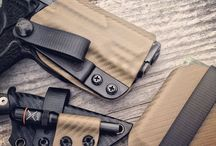 Holsters and sheaths (kydex & leather)