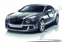Car design sketch / rendering