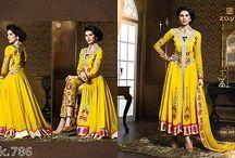Asian Designer Suits Semi-stitched / asiantrendsonline.co.uk