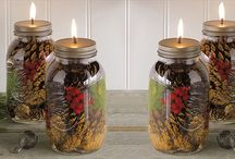 Mason jar crafts  / by Bethany Erin