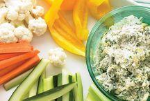 Dip verduras salsas humus lavan y otros