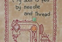 Stitcheries....Embroideries....Cross stitch / Broderier- Håndsyning