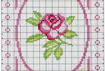 cicek kanavice sablonlari/ flowers cross stitch crafts