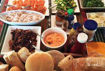 mesa de sándwiches