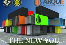 Container Arquie / Projetos arquitetônicos em container desenvolvidos pela Arquie Arquitetura Eficiente.