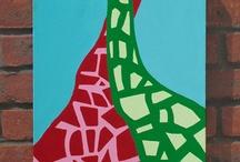 Folksy giraffes