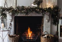 Christmas Hearths, Fireplaces and Mantles / Ideas and inspiration for decorating fireplaces, hearths and mantles
