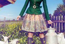 Wedding Inspiration | Swiss / German Chalet / Greens, Ivory, Cream and Brown