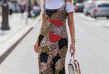 여성 스타일 (간단하고 화려한)