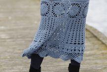 sukně háčkované