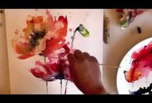 Video´s of painting with watercolors