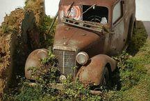 Diorama camions