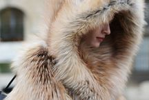 Winter Moodboard / Snow, white, silver, wool, crochet, ice, fur