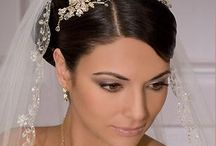 Wedding hair and vails