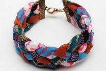 bijoux inspiration couture / Bijoux avec tout ce qu'on trouve dans un atelier de couture