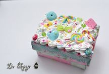 Decoden boxes / Here are some decoden boxes decorated by me.