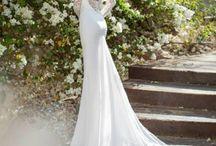 Wedding dress / Backless lace