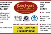 Funeral and medical supplies / Products used in the funeral profession.  Rose house funeral supplies 01283 819922