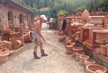 Working the clay