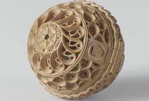 Wood carvings. Prayer Nuts