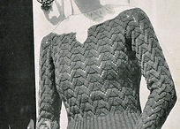 art deco knitting