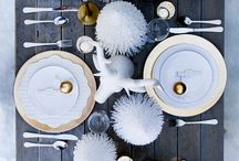Christmas Dining Table Decoration / by Angela // Great Body & Skin