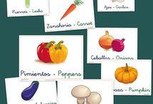 En el mercado / Vocabulario de verduras y frutas