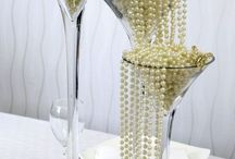 pearls and popcorn table decor