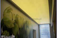 sufit podświetlany
