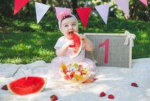 Ensaio smash the cake/Smash the fruit / Inspirações e ideas para ensaio com os bebês