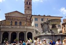 Rome, Trastevere neighborhood / Santa Maria In Trastevere