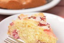 Rhubarb cakes