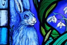 Hare today / Stained glass, prints and images of the wildest of creatures