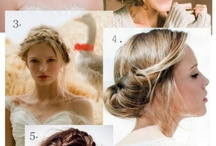 wedding dress & hair