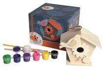 Peinture enfant / Kits peinture : peinture à doigts, peinture sur bois et tableaux déco.