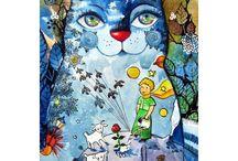 Postcards Illustrations / Illustrations art on Postcards