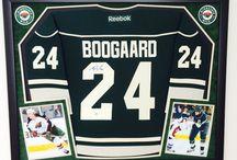 Framed Hockey Jerseys