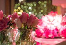 Allestimento tulipani rosa