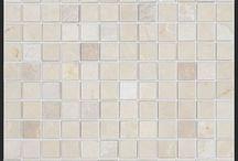 Marble 1x1 Mosaic Tiles / Thassos Marble, Carrara Marble, Crema Marfil, and Dark Emperador Marble 1x1 Mosaic Tiles from http://allmarbletiles.com