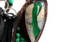 Variscite Gemstone beads and handmade Jewelry
