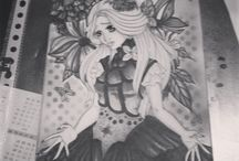 Made Drawings / Drawings I made, both black and white and colored ♥