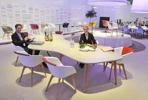 Organische vormen in project inrichting / Organic shapes in office furniture