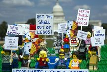 LEGO Minifigs Protest Arctic Drilling! / Greenpeace is urging LEGO to cut their marketing partnership with Shell Oil. For the last few years Shell has been using LEGO's brand to clean up its image as an Arctic oil driller. We set up LEGO protests around the world to let the toy company know that Shell is spoiling its image. / by Greenpeace USA