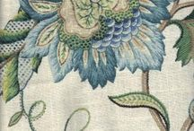 Jacobean Embroidery / Samples of the Jacobean Embroidery style, the stitches and motifs.