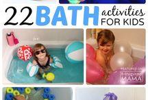 Actividades Hora Baño / Bath Time Activities / Actividades y juegos para divertirse durante la hora del baño de los peques.